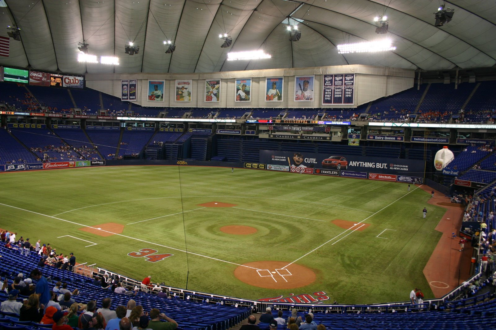 Seeall30 Com Road Tripping To All 30 Mlb Ballparks 187 Metrodome Pictures