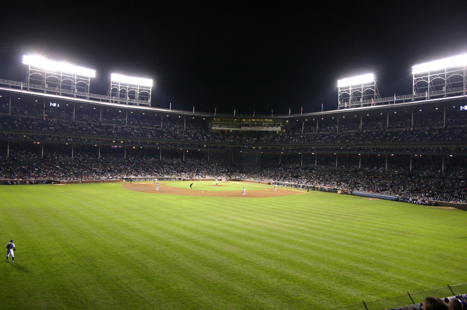 A Night Game At The Friendly Confines.