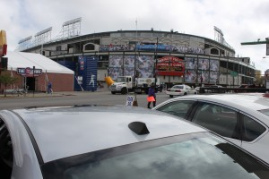 Our parking spot at Wrigley Field